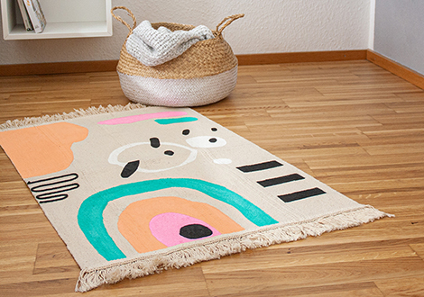 IKEA Hack: Teppich DIY mit PINTOR