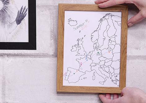 Individuelle Karte als Reiseerinnerung