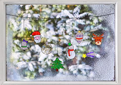 Weihnachtliches Fensterbild