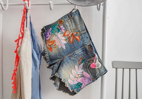 Upcycling Boho-Shorts