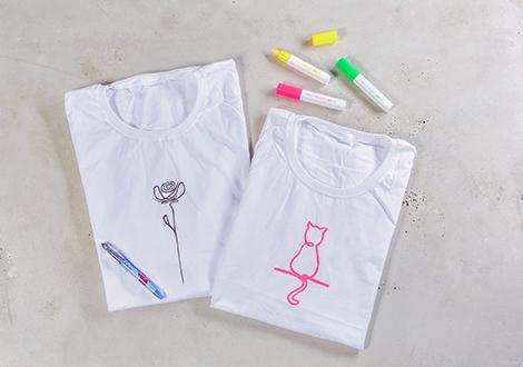 DIY Line Art Shirt