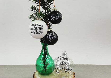 Individuelle Weihnachtsbaumkugeln