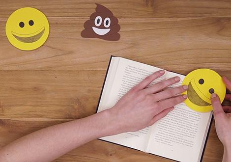 Emoji Lesezeichen basteln