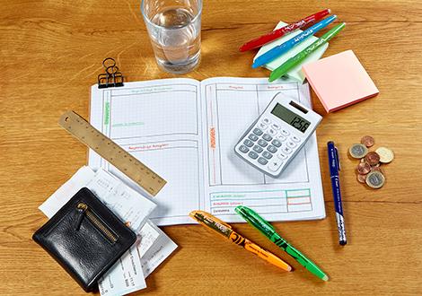 Haushaltsbuch mit der radierbaren FriXion Family
