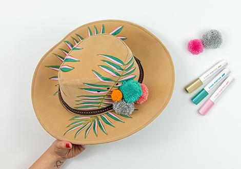 Sommerlicher Cowboy Hut