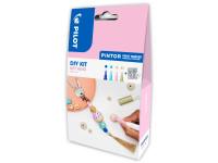PINTOR DIY-Set Schlüsselanhänger 2.3 (EF) Blau, Pastellgrün, Pastellpink, Gold