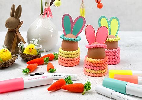 Süße DIY-Eierbecher