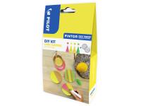 PINTOR DIY-Set Korkuntersetzer 4.5 (M) Neonrot, Neongelb, Neonapricot, Neongrün